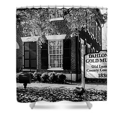 Fall At The Gold Museum In Black And White Shower Curtain