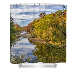 Fall At Turkey Run State Park Shower Curtain by Alan Toepfer