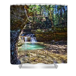 Fall Below Old Mans Cave Shower Curtain