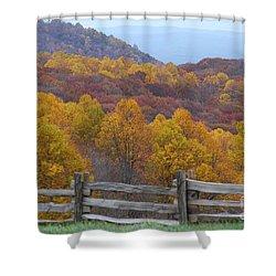 Fall Blend Shower Curtain by Eric Liller