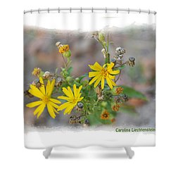 Fall Bloom In Texas I Shower Curtain by Carolina Liechtenstein