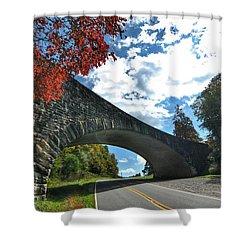 Fall Bridge Shower Curtain