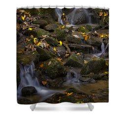 Shower Curtain featuring the photograph Fall Cascades by Ellen Heaverlo