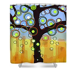 Fall Circles Shower Curtain