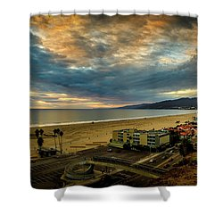 Fall Clouds Over The Bay Shower Curtain