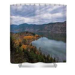 Fall Color At Ruthton Point In Hood River Oregon Shower Curtain
