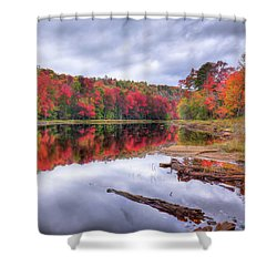 Shower Curtain featuring the photograph Fall Color At The Pond by David Patterson