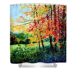 Fall Color Shower Curtain by Hanne Lore Koehler