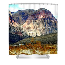 Fall Color In The Winter Season Shower Curtain