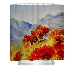 Shower Curtain featuring the painting Fall Color by Jamie Frier