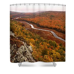 Fall Colors - Lake Of The Clouds Shower Curtain
