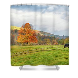 Shower Curtain featuring the photograph Fall Colors After The Storm. by Jeff Folger
