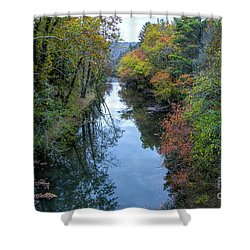 Fall Colors Along The Tallulah River Shower Curtain
