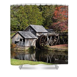 Fall Colors At Mabry Mill Blue Ridge Parkway Shower Curtain
