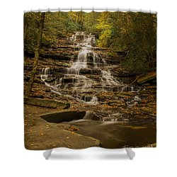 Fall Colors At Minnehaha Falls Shower Curtain