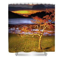 Fall Colors At Sunrise In Otter Blue Ridge Ap Shower Curtain