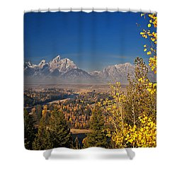 Fall Colors At The Snake River Overlook Shower Curtain by Sam Antonio Photography