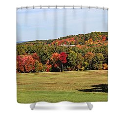 Fall Colors In Easthampton Shower Curtain