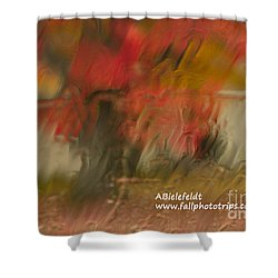 Fall Colors In The Rain Shower Curtain