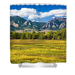 Fall Colors Of Boulder Colorado Shower Curtain