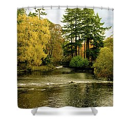 Fall Colour On The River Ness Islands Shower Curtain by Jacqi Elmslie