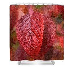 Fall Crimson Shower Curtain