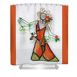 Fall Dancer Shower Curtain by Maxine Grossman
