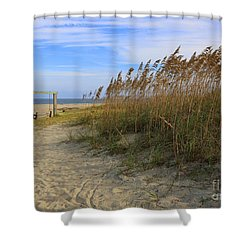 Fall Day On Tybee Island Shower Curtain