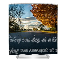 Fall Day With Saying Shower Curtain