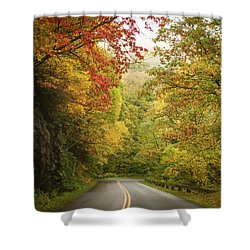 Fall Drive On The Blue Ridge Parkway Shower Curtain