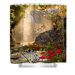 Fall Falls Mist  Dead River Falls  Marquette Mi Shower Curtain