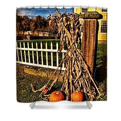 Fall Fence At Hale Farm Shower Curtain