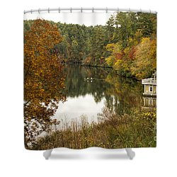 Fall Fishing Shower Curtain