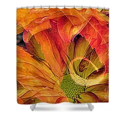Fall Floral Composite Shower Curtain by Janice Drew