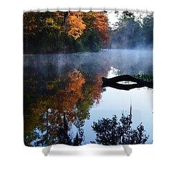 Fall Fog Shower Curtain by Warren Thompson