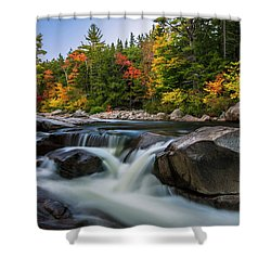Fall Foliage Along Swift River In White Mountains New Hampshire  Shower Curtain