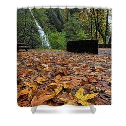 Fall Foliage At Horsetail Falls Shower Curtain by David Gn
