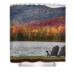 Fall Foliage At Noyes Pond Shower Curtain