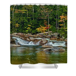 Fall Foliage In Autumn Along Swift River In New Hampshire Shower Curtain