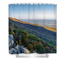 Shower Curtain featuring the photograph Fall Foliage In The Blue Ridge Mountains by Lori Coleman