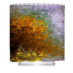 Shower Curtain featuring the digital art Fall Foliage by John Krakora