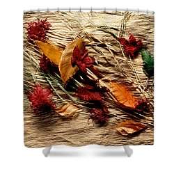 Fall Foliage Still Life Shower Curtain