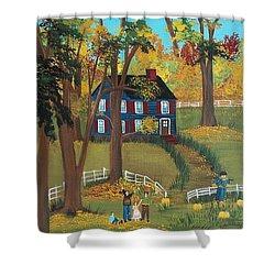 Fall Foliage Shower Curtain by Virginia Coyle