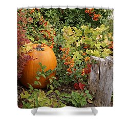 Fall Garden Shower Curtain by Cynthia Powell
