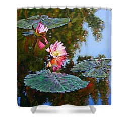 Fall Glow Shower Curtain by John Lautermilch