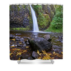 Shower Curtain featuring the photograph Fall Gorge by Jonathan Davison