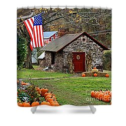 Shower Curtain featuring the photograph Fall Harvest - Rural America by DJ Florek