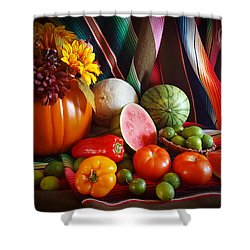 Fall Harvest Still Life Shower Curtain