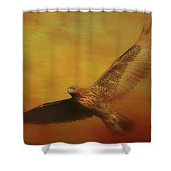 Fall Hawk Shower Curtain