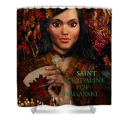 Shower Curtain featuring the painting Fall Holidays Magdalene Of Nagasaki by Suzanne Silvir